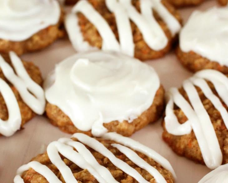 Carrot Cake Cookies w/ Cream Cheese Frosting