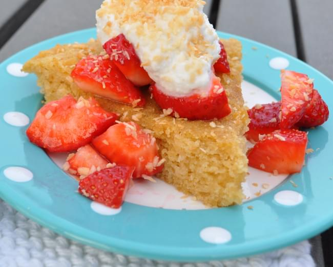 Coconut Lime Strawberry Shortcake