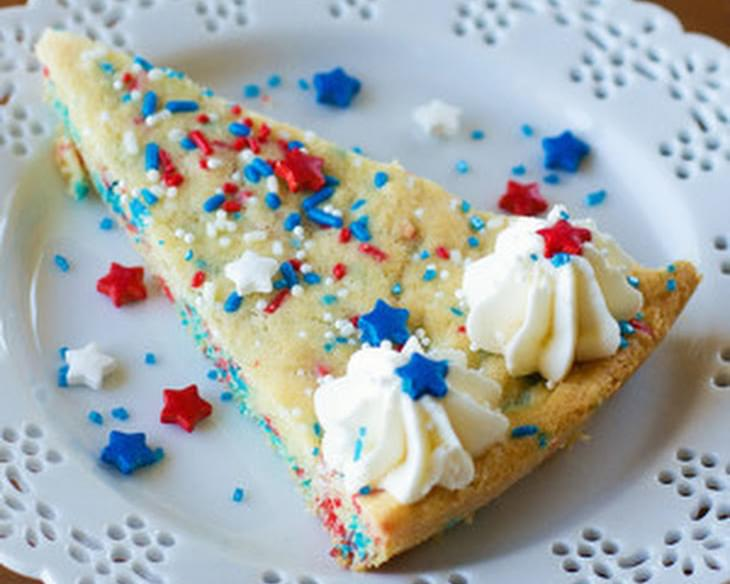 Patriotic Funfetti Sugar Cookie Cake