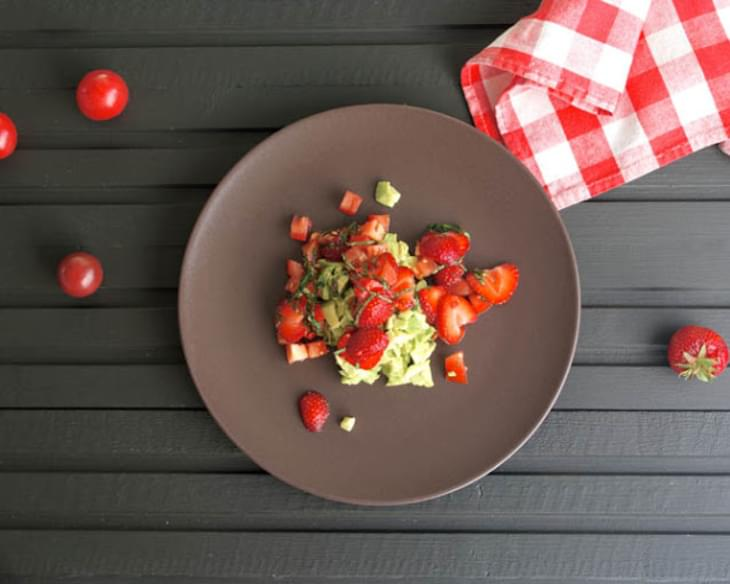 Avocado with Strawberries, Chilli & Basil