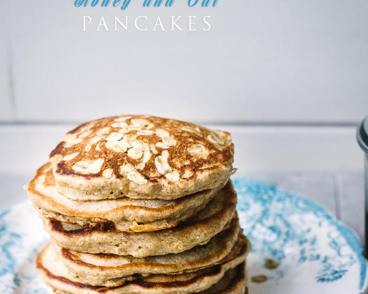Honey and Oat Pancakes