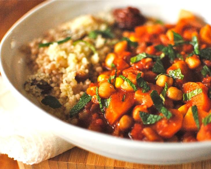 Tunisian style chickpea and vegetable tagine with apricot couscous tunisian style chickpea and vegetable tagine with apricot couscous forumfinder Choice Image