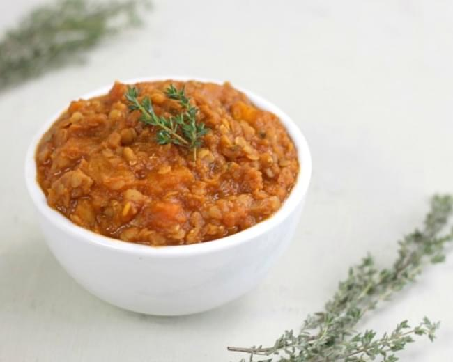 Butternut Squash And Red Lentil Stew