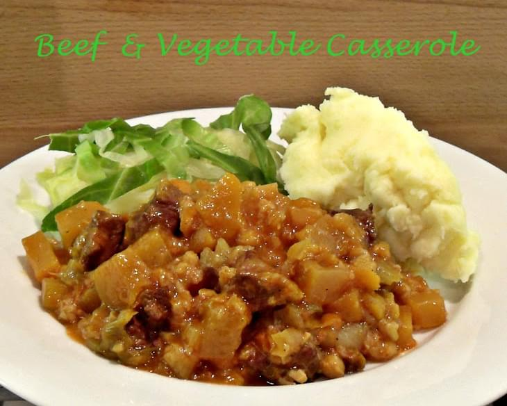 Slow Cooked Beef & Vegetable Casserole