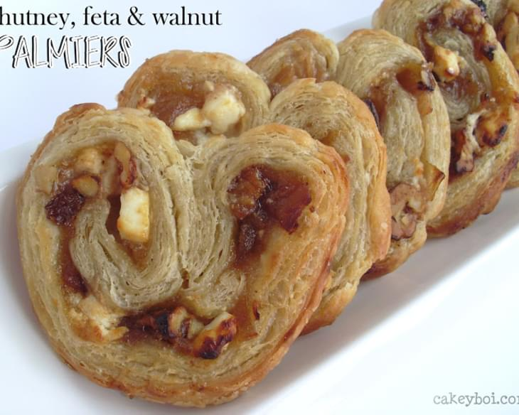 Chutney, Feta and Walnut Palmiers - for Organic September