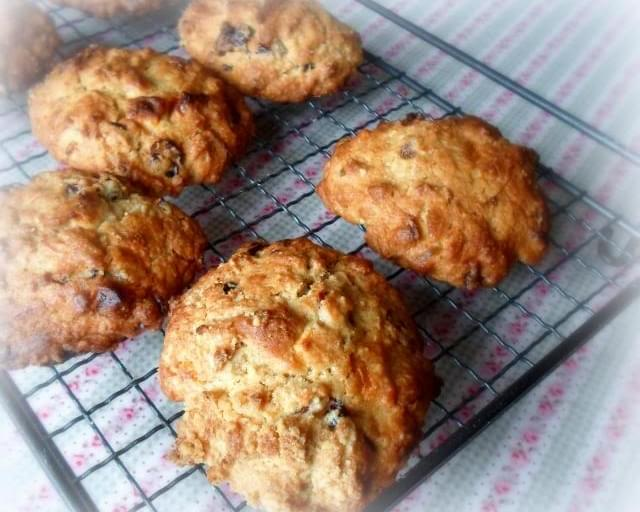 *Cranberry, Ginger and White Chocolate Rock Cakes*