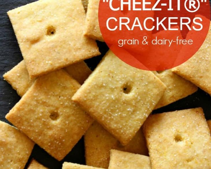 "Homemade""Cheez-Its®"" Crackers (grain & dairy-free)"