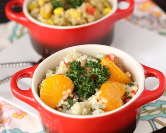 Feta Mandarin Asian Quinoa Salad Recipe