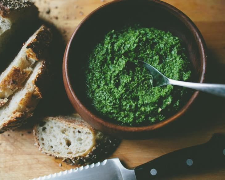 Chard and Roasted Garlic Pesto