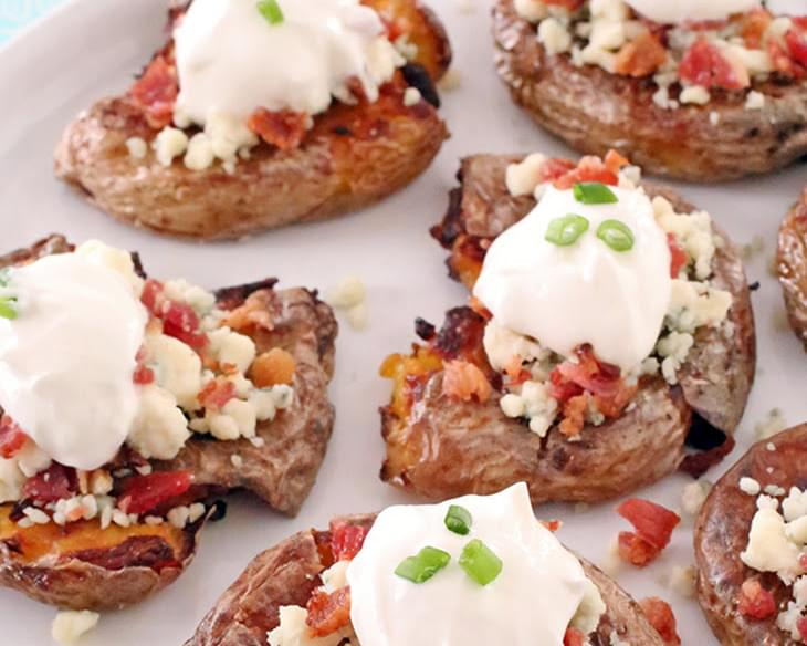 Bacon & Blue Cheese Crash Hot Potatoes