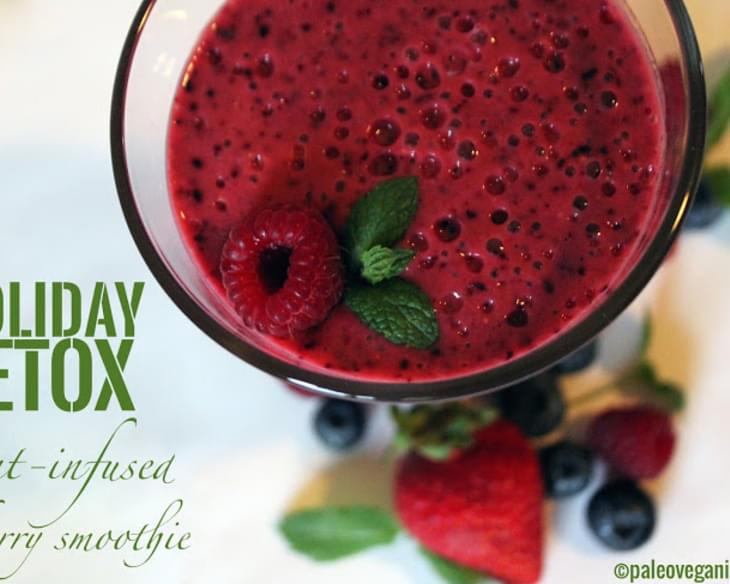 Mint-Infused Berry Smoothie