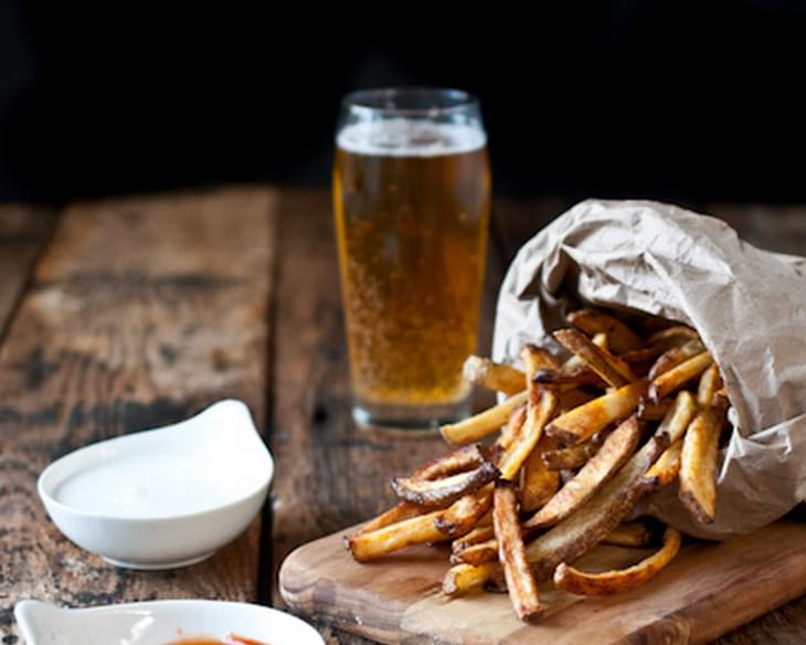 Beer Soaked Oven Fries