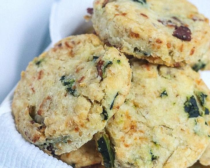 Cheesy Bacon and Kale Biscuits