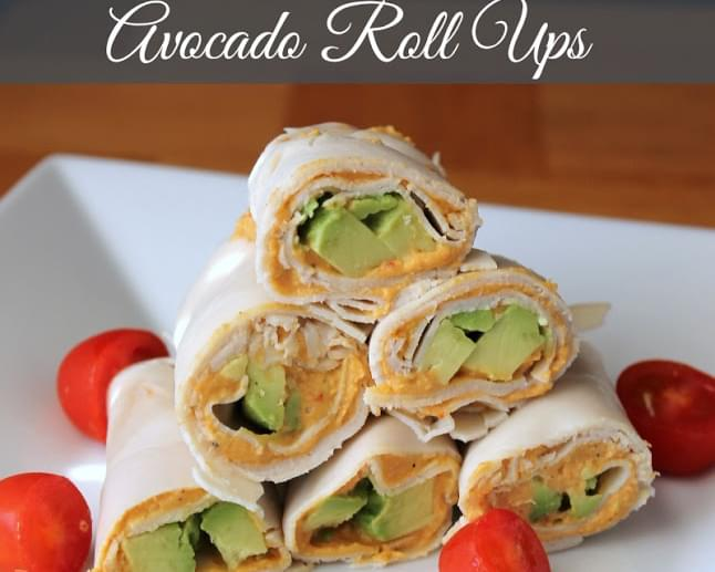 Turkey, Avocado, and Hummus Roll Ups {No Bread}