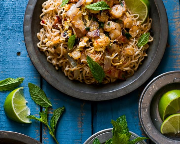 Shrimp and Bacon Ramen Stir Fry