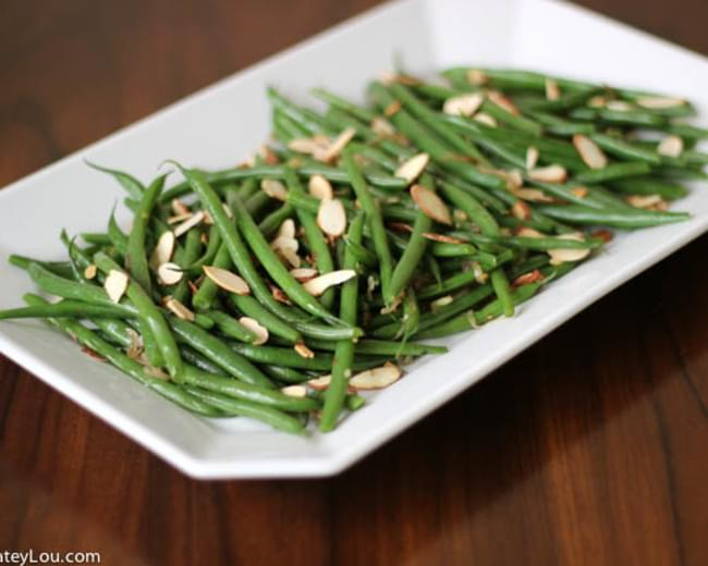 haricots verts with toasted almonds and caramelized shallots recipe. Black Bedroom Furniture Sets. Home Design Ideas