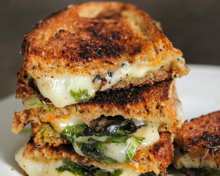 Grilled Cheese And Spinach Sandwich
