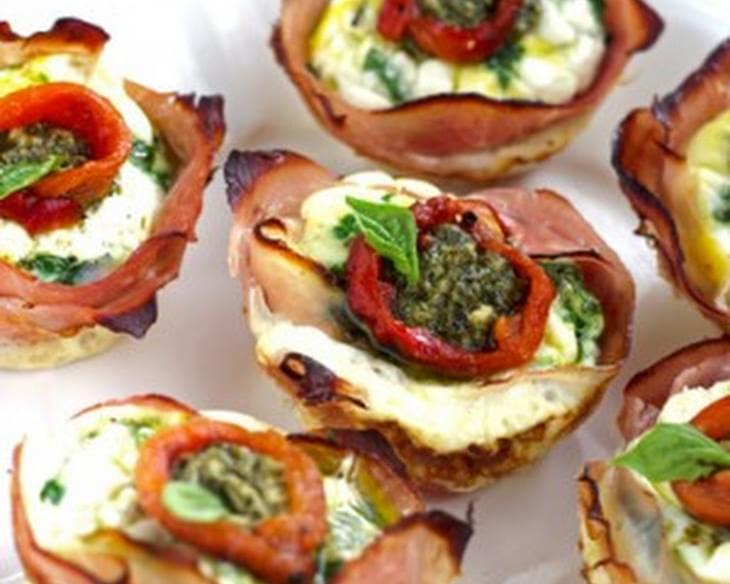 Mediterranean Ham And Egg Cups {Low Carb, Low Fat, High Protein, Low Calorie & GF}