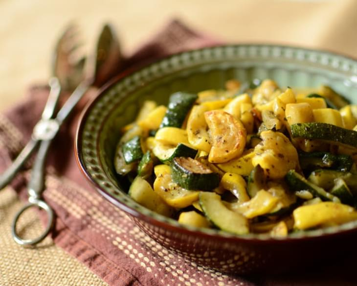 Sauteed Zucchini and Summer Squash