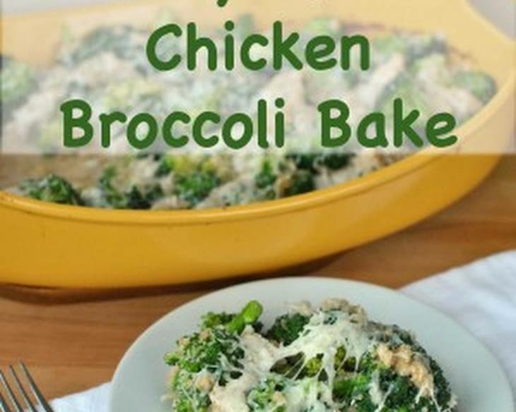 Cheesy Quinoa Chicken Broccoli Bake