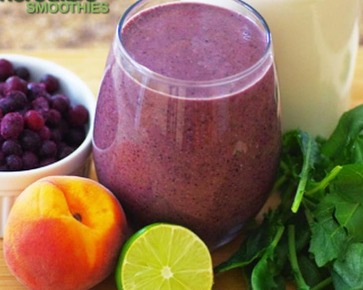 Blueberry-Cucumber Smoothie Recipe with Peach