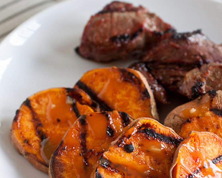 Grilled Thai Sweet Potatoes
