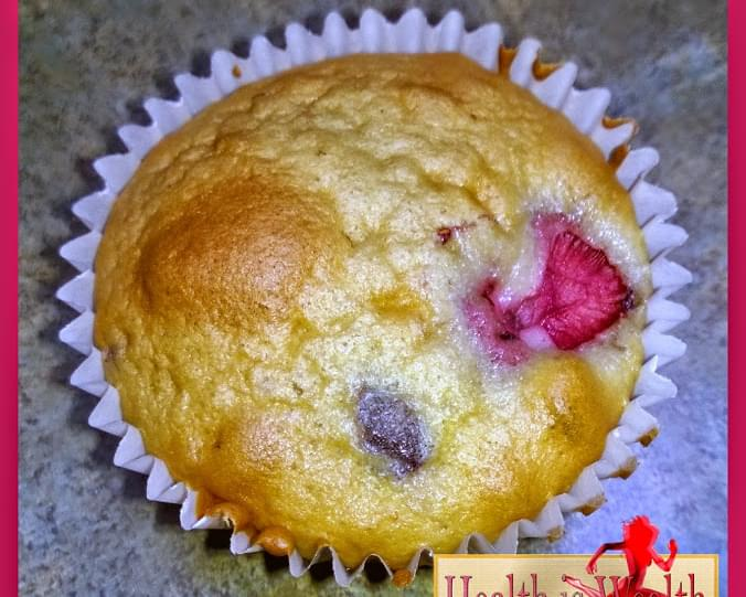 Coconut Strawberry Blueberry Muffins
