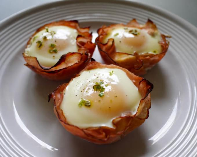 Dijon Ham and Egg Cups