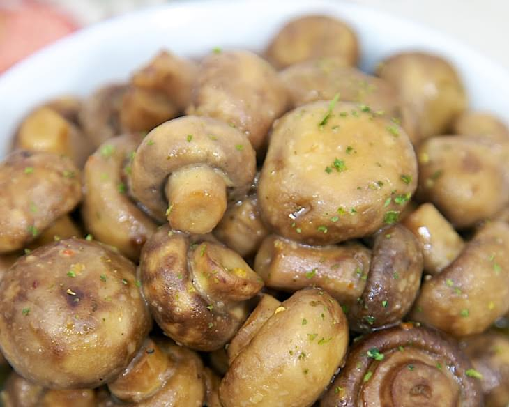 Slow Cooker Italian Ranch Mushrooms