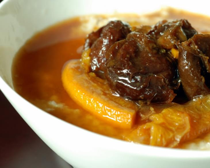 Cinnamon-Orange Stewed Prunes