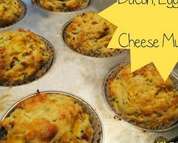 Easy Cheesy Bacon And Cheese Muffins For Back To School