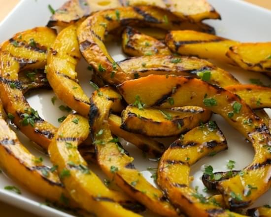 Zucca Gialla in Agrodolce (Sweet and Sour Grilled Pumpkin)