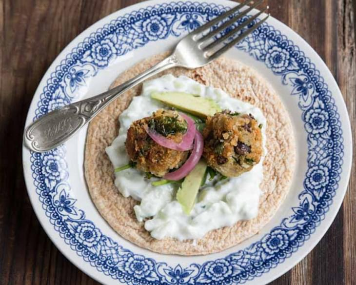 Kale and Black Bean Falafel