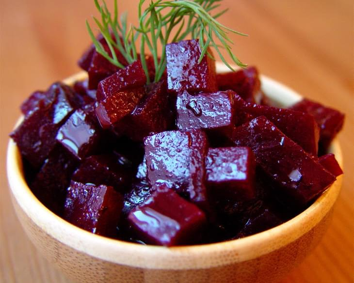 Roasted Beets with Orange Dressing