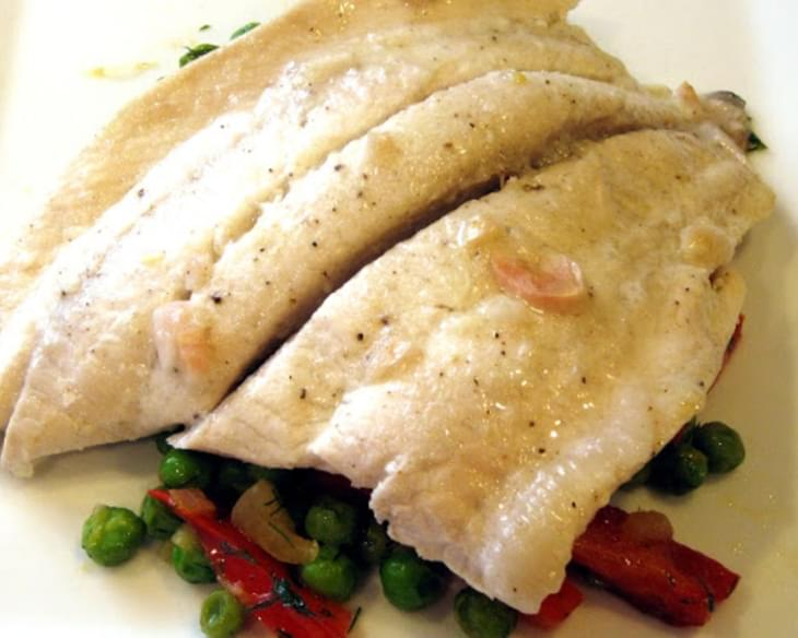 Fresh sole fish with pea salad recipe for Sole fish nutrition
