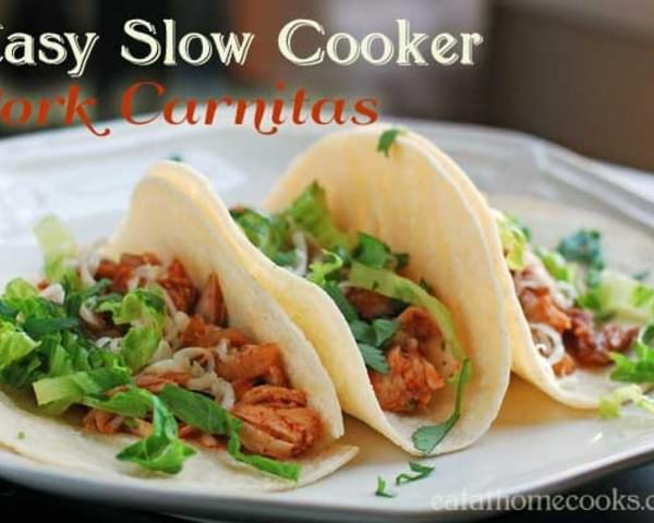 Easy Slow Cooker Pork Carnitas - Weeknight Dinner Favorite