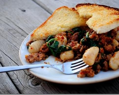 Whole-Wheat Gnocchi with Sausage & Spinach