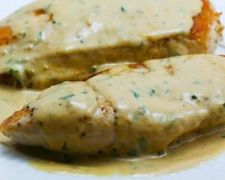 Sauteed Chicken Breasts with Tarragon-Mustard Pan Sauce
