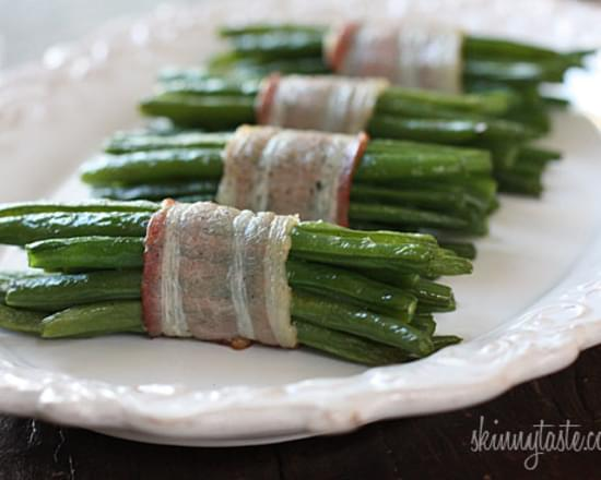 Bacon Wrapped Green Bean Bundles