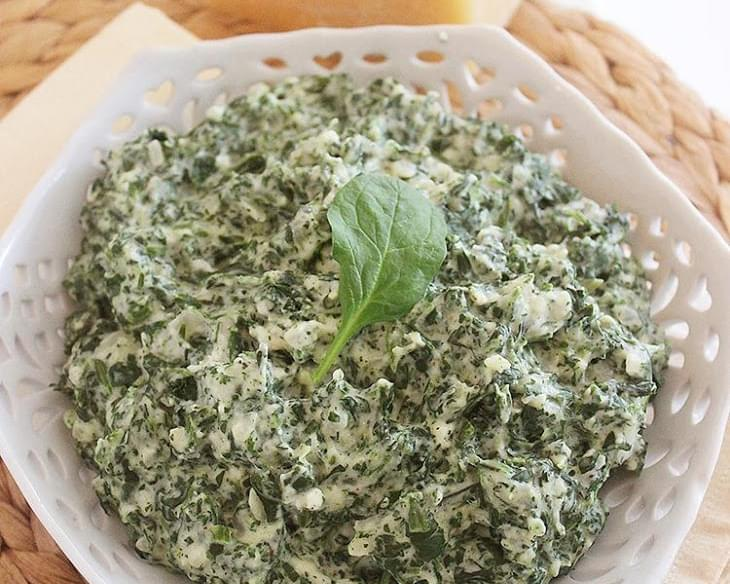 Lighter Creamed Spinach