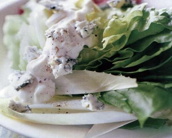 Bibb Wedges, Radicchio, Endive, and Blue Cheese Dressing