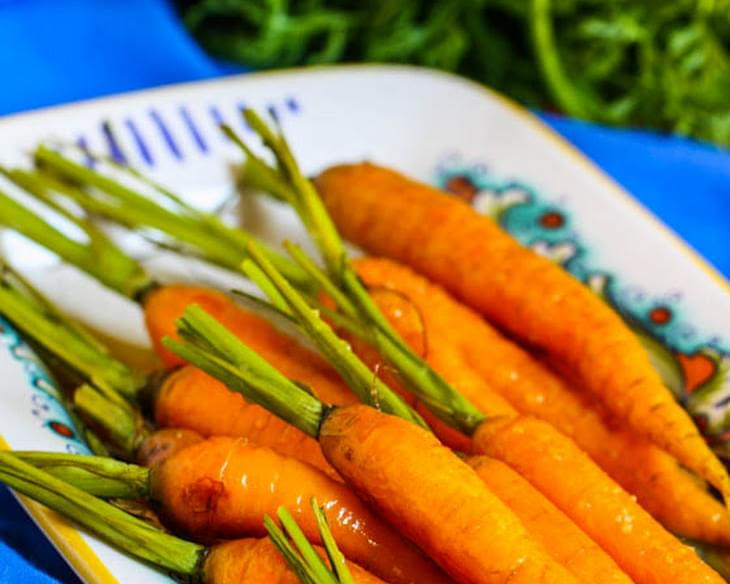 Roasted Carrots with Honey Ginger Glaze