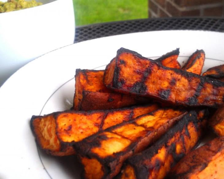 Grilled Chili-Lime Sweet Potato Wedges