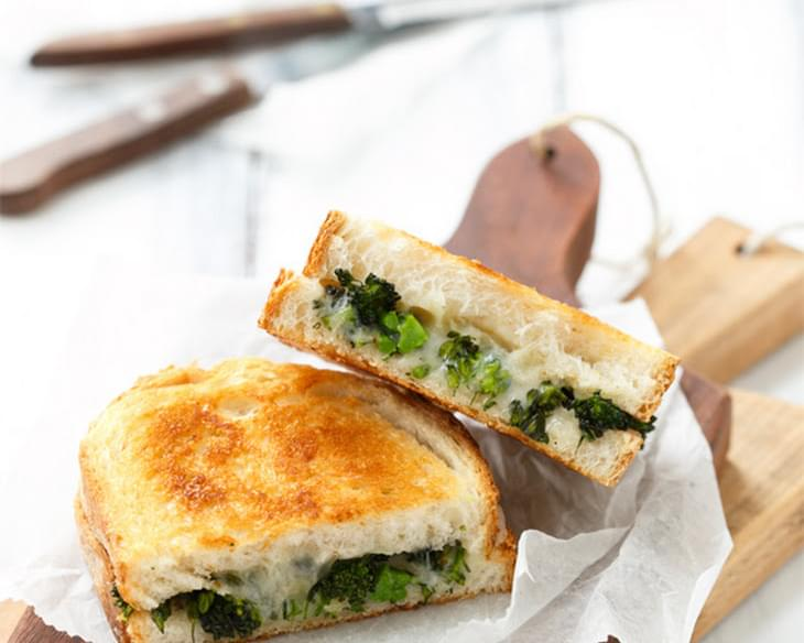 Roasted Broccolini Grilled Cheese