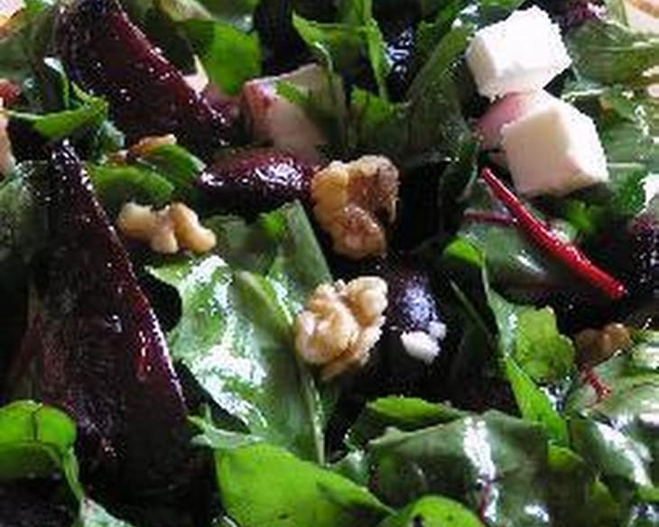 Beetroot, Rocket, Feta and Walnut Salad