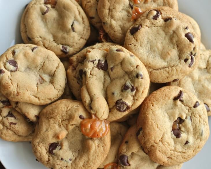 Salted Caramel Chocolate Chip Cookies