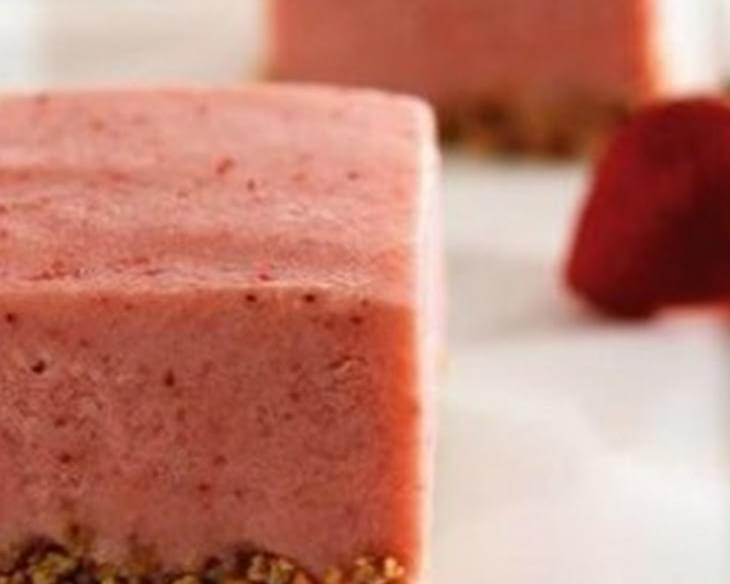 Strawberry Frozen Yogurt Squares