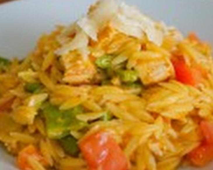 Pesto Orzo with Tyson® Grilled and Ready Chicken #TysonGrilled&Ready