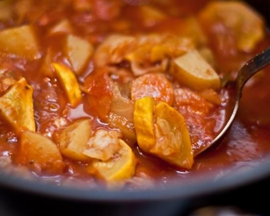 Healing Cabbage, Potato, Carrot, & Tomato Curry Stew