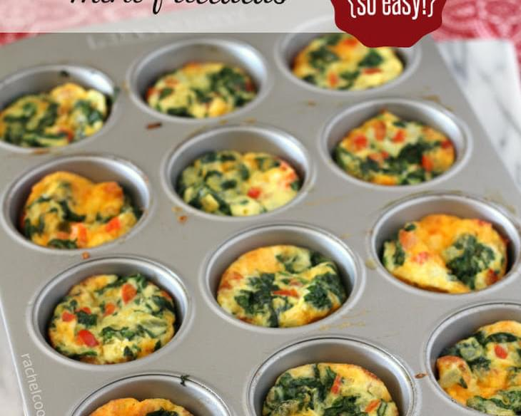 Mini Frittatas with Spinach and Red Pepper